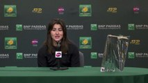Bianca Andreescu talks after her title win at Indian Wells