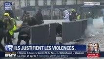 Alors que l'heure est au bilan des dégâts, certains gilets jaunes justifient les violences des manifestations de samedi
