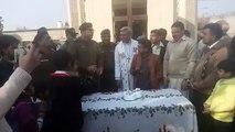 DPO Attock sir Hasan Asad Alvi participated in the cake cutting ceremony held in the main church of Attock city. He wish
