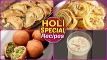 Holi Special Recipes - Holi Special Sweets - How to make Holi Snacks At Home