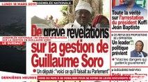 Le Titrologue du 18 Mars 2019 : Assemblée Nationale, de graves révélations sur la gestion de Guillaume Soro