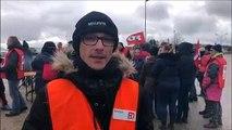 Meuse : des salariés  de Main Sécurité-Onet en grève sur le site de Bure