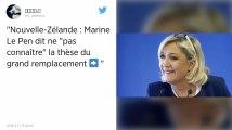 Les trous de mémoire de Marine Le Pen quand on lui parle de la théorie du «grand remplacement»