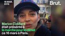 """""""C'est une marche pour l'humanité"""", a réagi Marion Cotillard à la """"Marche du siècle"""" pour le climat"""