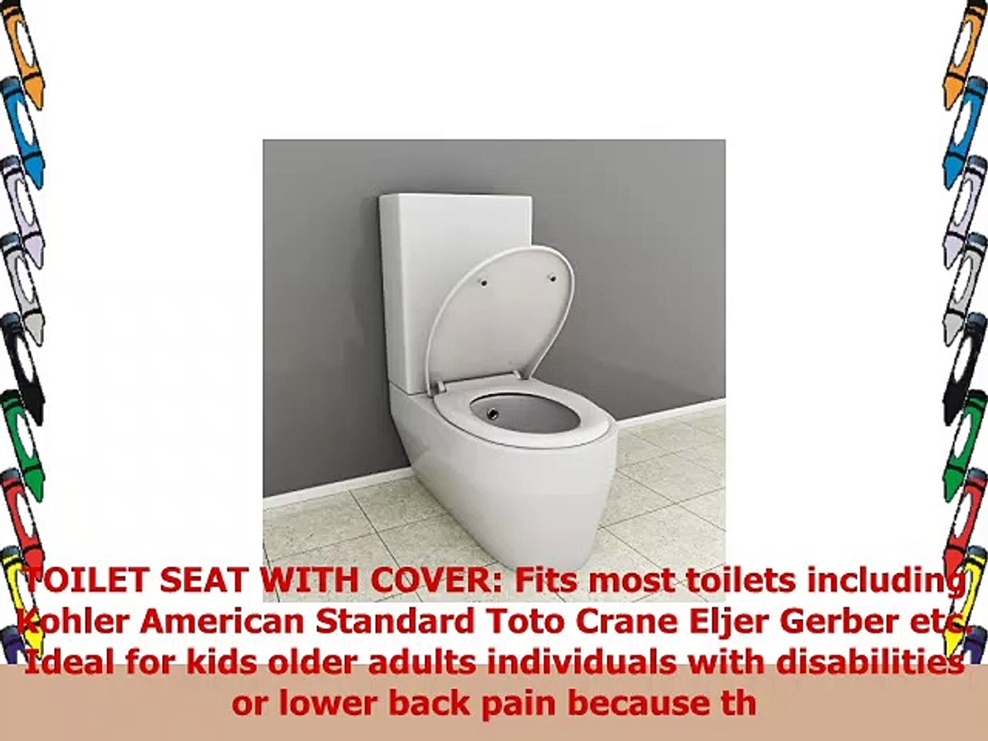 Incredible Toilet Seat With Cover Soft Close Quick Release For Easy Cleaning Fits All Manufacturers Ncnpc Chair Design For Home Ncnpcorg