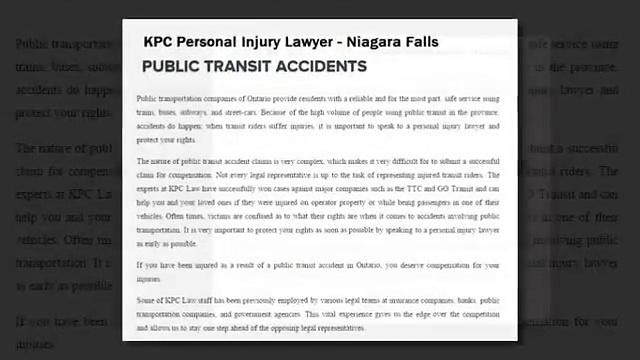 Niagara Falls Injury Lawyer – KPC Personal Injury Lawyer (800) 234-6145