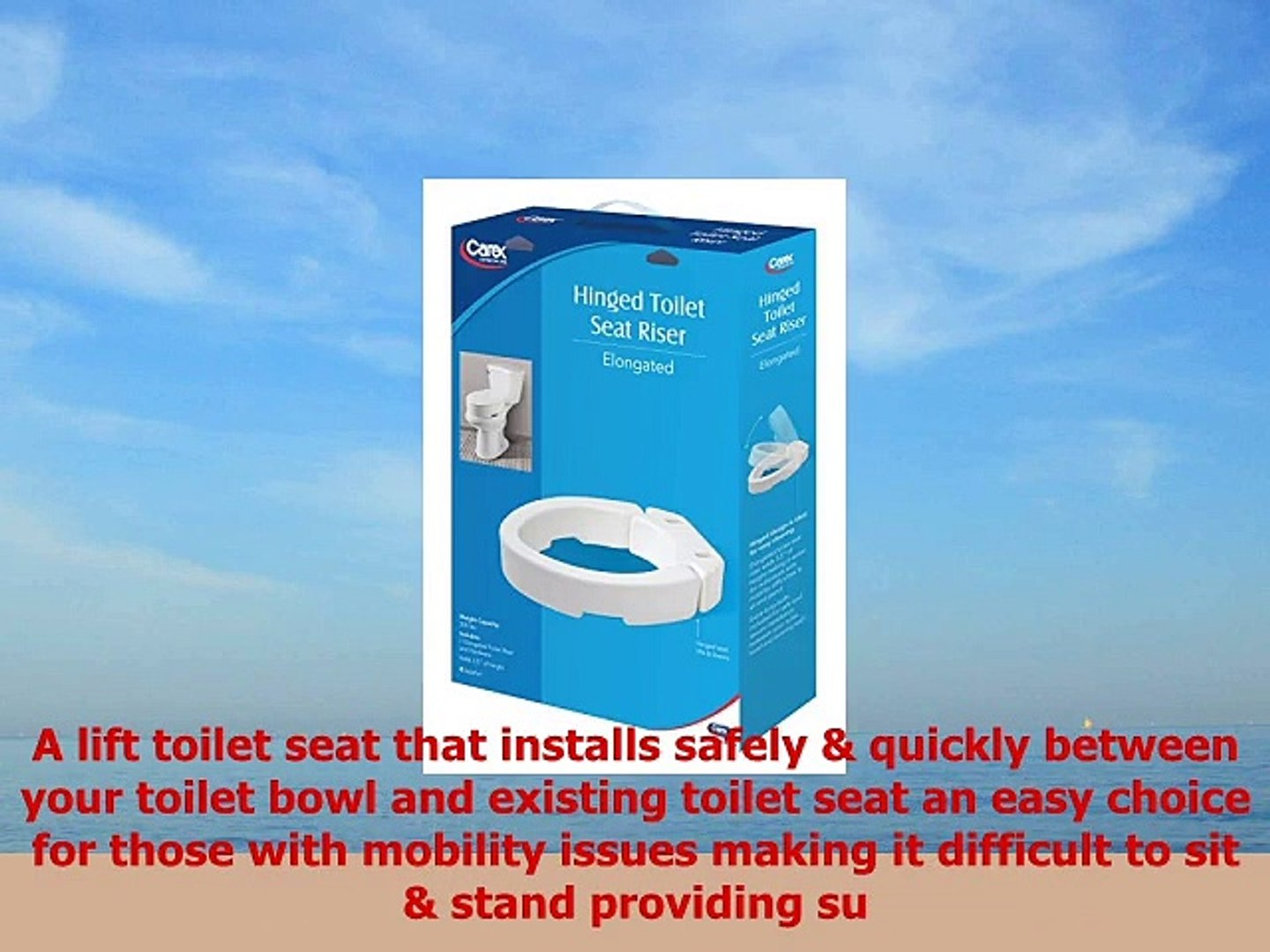 Phenomenal Carex Elongated Hinged Toilet Seat Riser Adds 35 Inches Of Toilet Lift 300 Pound Weight Pdpeps Interior Chair Design Pdpepsorg