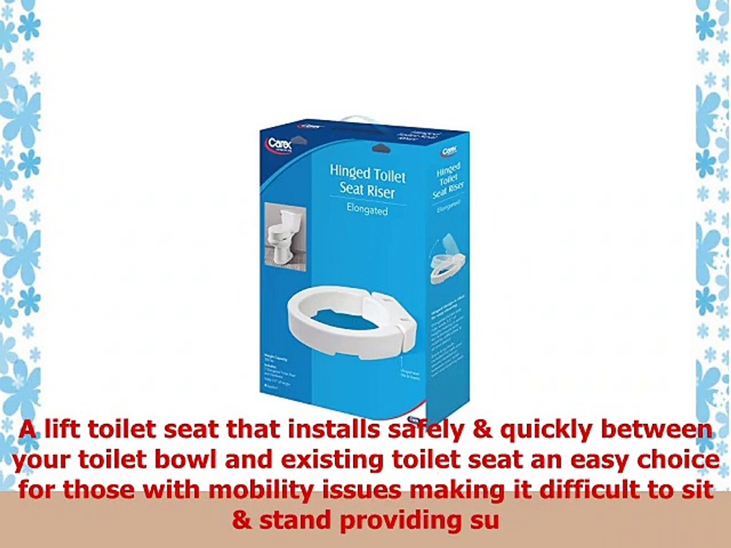 Pleasant Carex Elongated Hinged Toilet Seat Riser Adds 35 Inches Of Toilet Lift 300 Pound Weight Pdpeps Interior Chair Design Pdpepsorg