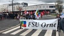 Manifestation intersyndicale départementale dans l'Orne