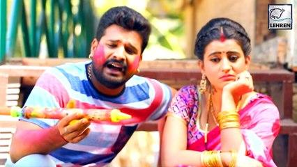 Akshara Singh-Ritesh Pandey के Holi Song पर झूम रहे दर्शक