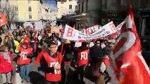 Bourg-en-Bresse: la manifestation interprofessionnelle a rassemblé plus de 650 personnes