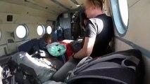 Un touriste filme le crash d'un hélicoptère vu de l'intérieur !
