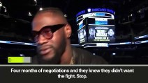 (Subtitled) Wilder 'can't wait' for Joshua