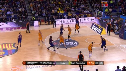 EuroLeague 2018-19 Highlights Regular Season Round 27 video: Barcelona 93-64 Gran Canaria