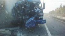 Unverletzt: LKW-Fahrer wird aus Kabine geschleudert