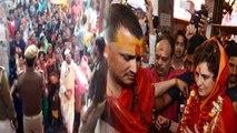 Priyanka Gandhi Vadra के Vindhyachal दर्शन के दौरान लगे Modi Modi के नारे | वनइंडिया हिंदी