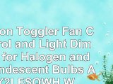 Lutron Toggler Fan Control and Light Dimmer for Halogen and Incandescent Bulbs AY2LFSQWH