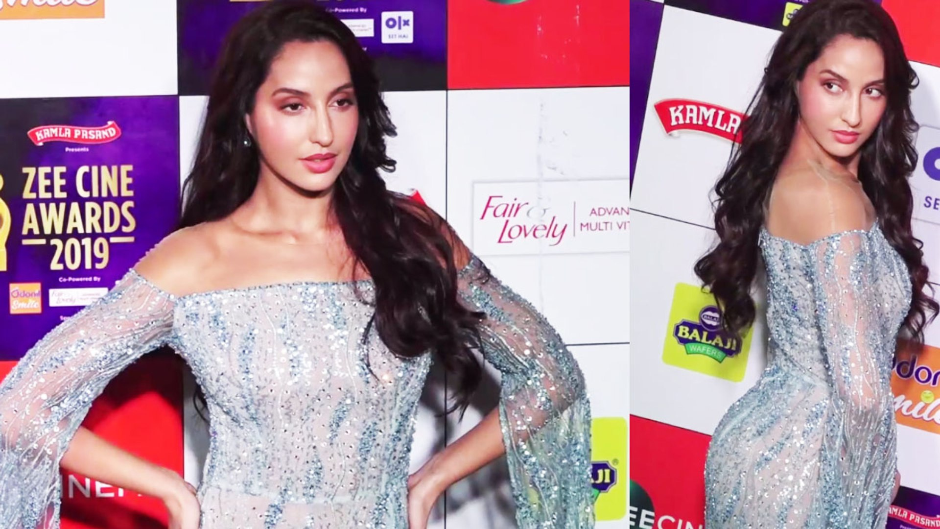 Nora Fatehi looks stunning the red carpet at Zee Cine Awards 2019 ;Watch video | FilmiBeat