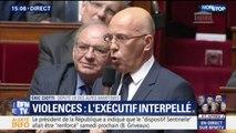 """Éric Ciotti (LR): """"Allez-vous, monsieur le Premier ministre, interdire samedi toutes manifestations sur tout le territoire national ?"""""""