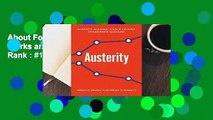 About For Books  Austerity: When It Works and When It Doesn't  Best Sellers Rank : #1