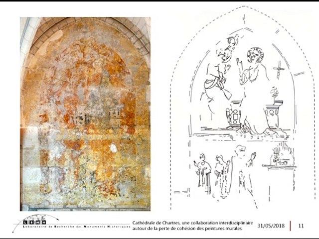 07. Cathédrale de Chartres, une collaboration interdisciplinaire autour de la perte de cohésion des peintures murales