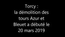 Démolition des tours Azur et Bleuet de Torcy