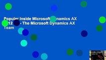 Popular Inside Microsoft Dynamics AX 2012 R3 - The Microsoft Dynamics AX Team