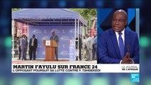 """RD Congo : """"Kabila s'est mis un masque, ce masque s'appelle Felix Tshisekedi"""", déplore Martin Fayulu sur France 24"""