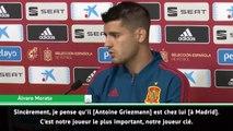 """Atlético - Morata : """"Griezmann est chez lui à Madrid"""""""