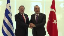 Antalya Dışişleri Bakanı Mevlüt Çavuşoğlu, Yunanistan Dışişleri Bakanı Georgios Katrougalos ile...