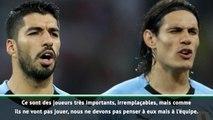 """Uruguay - Tabarez : """"Suarez et Cavani sont irremplaçables"""""""