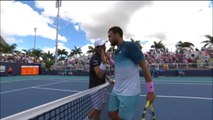 Miami - Tsonga sort lors des qualifications
