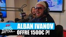 Alban Ivanov offre 1500€ ou pas ?! #MorningDeDifool