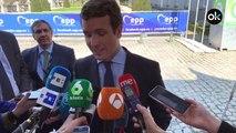 """Pablo Casado: """"Los independentistas quieren la vía eslovena, la de los 63 muertos"""""""