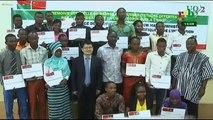 RTB - Plusieurs étudiants reçoivent des bourses d'Etudes de l'ambassade de Chine
