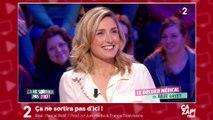 Julie Gayet gênée par une question de Michel Cymes sur son couple