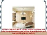 VINLUZ 5 Light Contemporary Chandeliers Brushed Nickel Modern Light Fixtures Ceiling