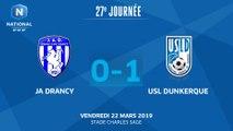 J27: JA Drancy-USL Dunkerque (0-1), le résumé