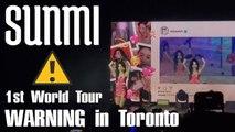 "【KY】SUNMI #WARNINGinTOR World Tour Concert Fancams(Including FULL Fancam of ""NOIR""!!)"