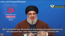 Nasrallah: US Sanctions against Hezbollah are Last Resort, Resistance Axis Triumphs (1/2)