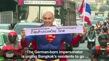 'Superman' encourages people to vote in Thai general election