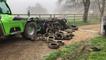 Les 8 tonnes de pneus sont retirés.