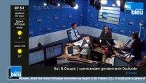Le général Bernard Clouzot commandant de la gendarmerie d'Occitanie invité de France Bleu Occitanie