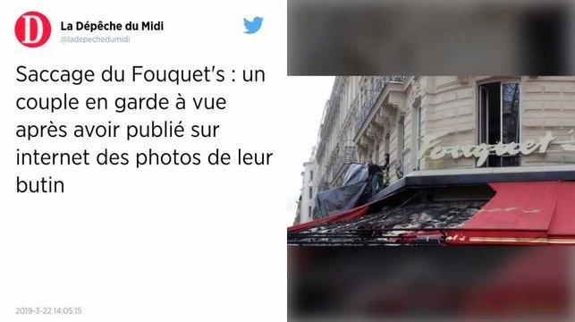 Gilets jaunes. Un couple en garde à vue pour le saccage du Fouquet's sur les Champs-Élysées
