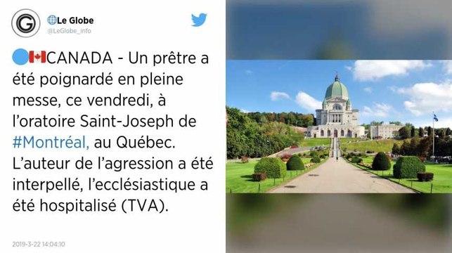 Canada. Un prêtre agressé à l'arme blanche pendant une messe à Montréal, l'agresseur présumé arrêté