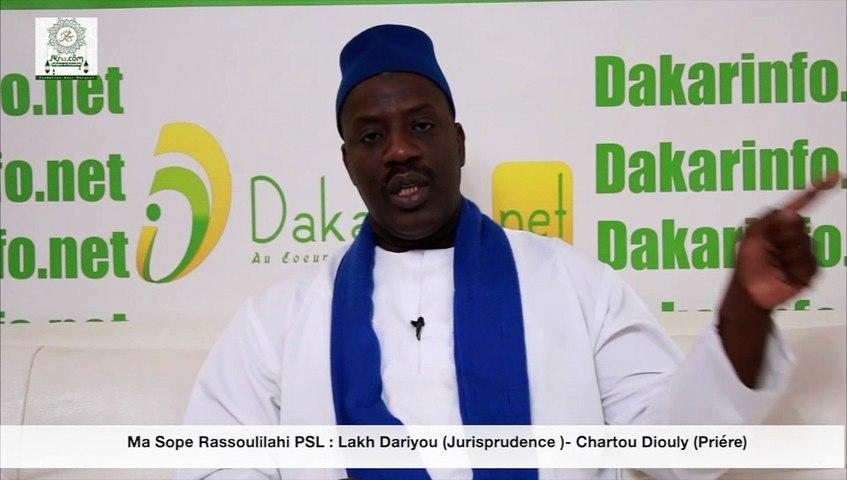 Ma Sope Rassoulilahi PSL : Lakh Dariyou (Jurisprudence )- Chartou Diouly (Priére)