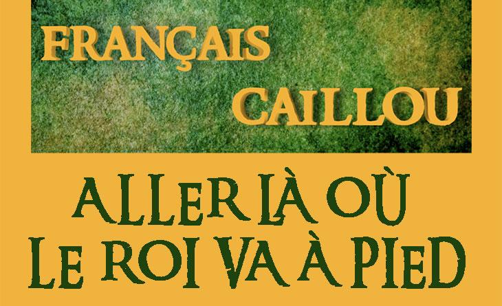 Français caillou / Définition du jour :  Aller là où le Roi va à pied