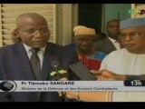 ORTM/Rencontre entre les députés de la commissions défense de l'assemblée nationale et  le Ministre de la défense et des anciens combattants,  Tiemoko SANGARE