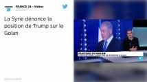 Israël. La France rappelle Donald Trump au droit international après ses propos sur le Golan