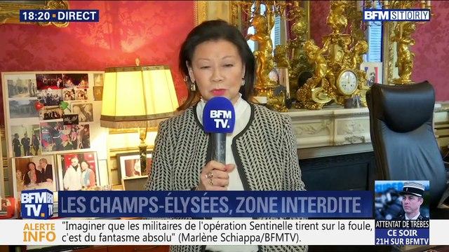 Manifestation de gilets jaunes: les Champs-Élysées, zone interdite